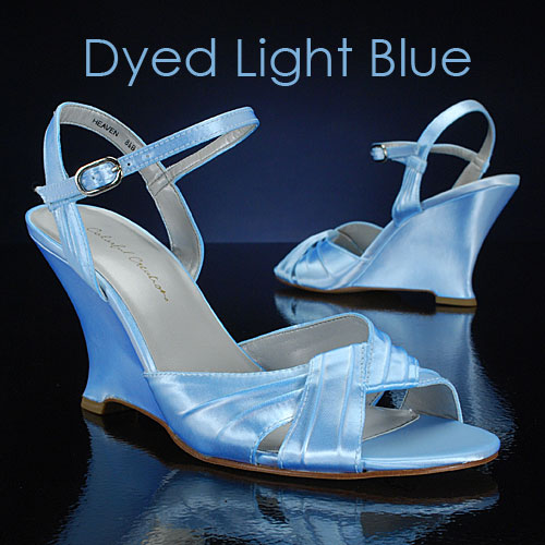 Light Blue Wedge Wedding Shoes