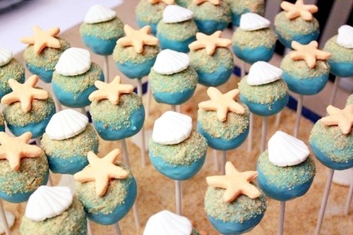 Beach Theme Cake Pops