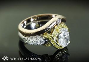 yellow loose diamonds ring