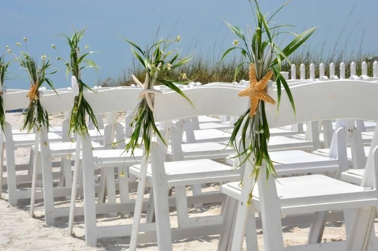 Beach Wedding Chair Decor