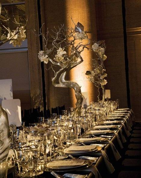 Large Golden Branch Centerpieces