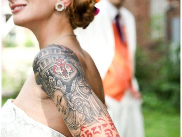 How to Cover Up Tattoos for Your Wedding Day