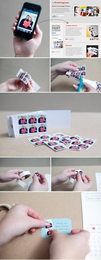 DIY Save the Date Stickers