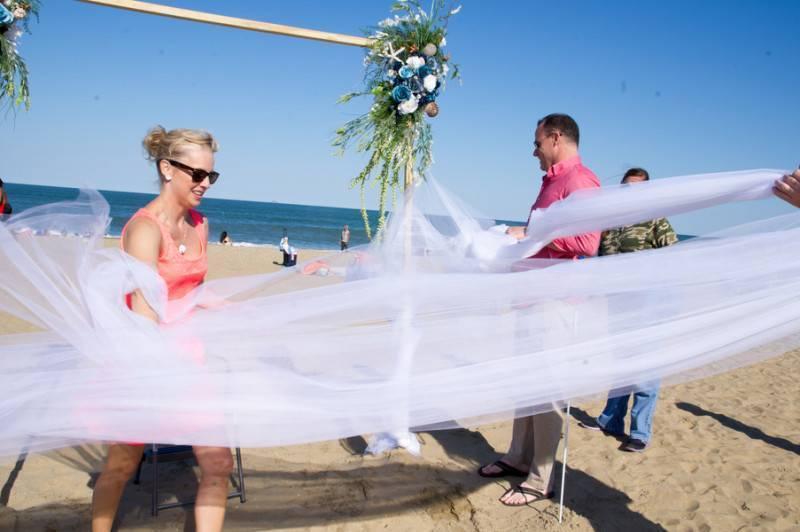 A Windy Virginia Beach Wedding