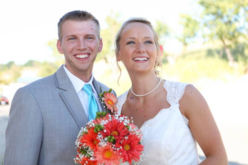 Quirky Coral Wedding