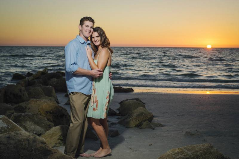 Radiant Sunset   An Engagement Session