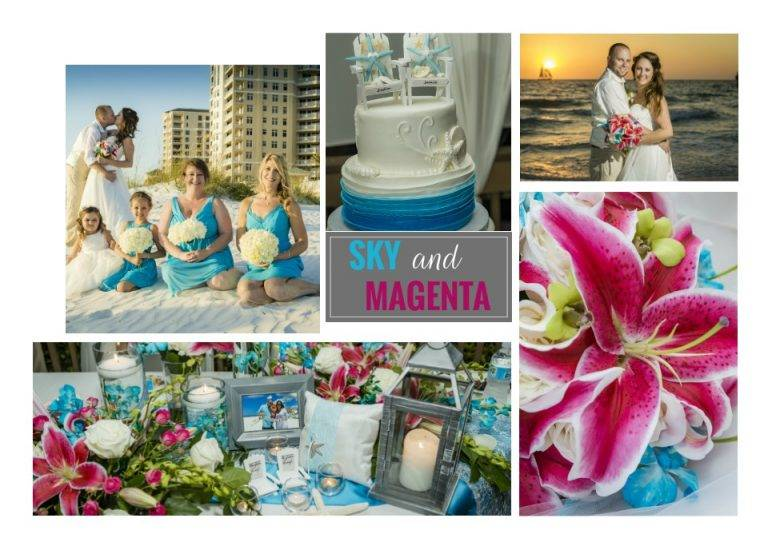 Top Beach Wedding Colors of Spring