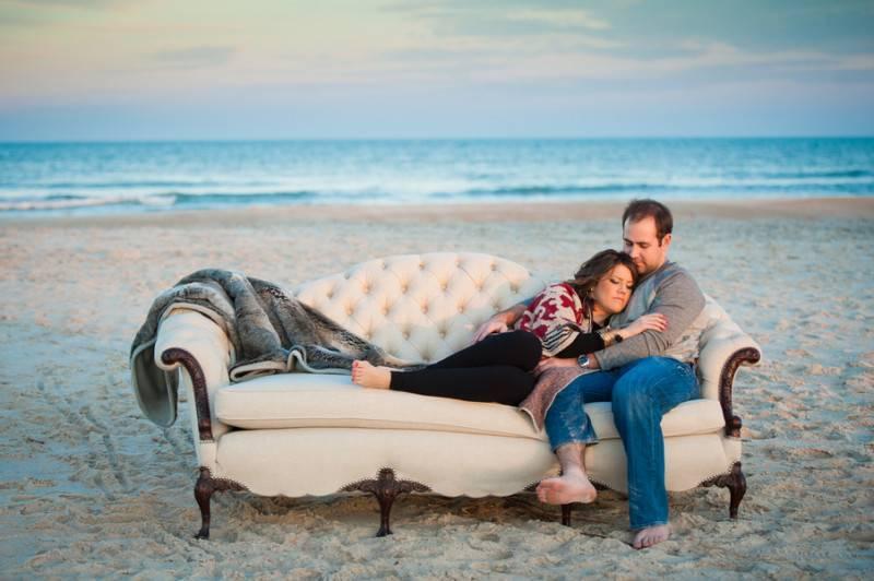 Cuddling By The Beach