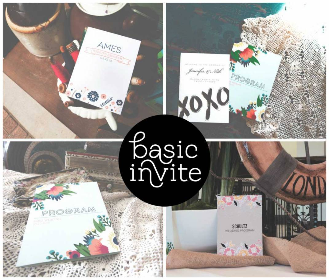 Thinking Outside the Rectangle: Unique Wedding Program Designs by BasicInvite