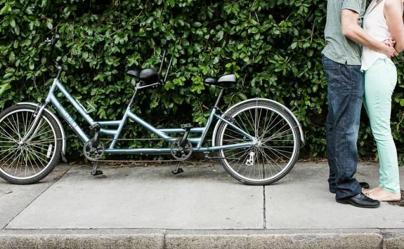On Tandem Bikes We Ride