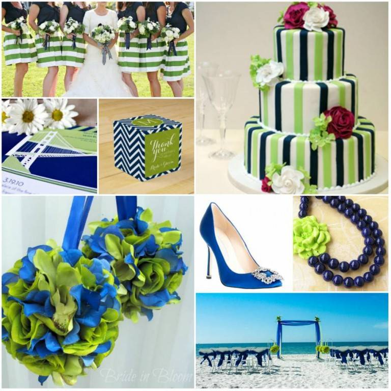 Color Board: Lime Green and Navy Blue