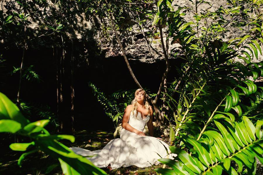 Cenote and Beach Trash the Dress