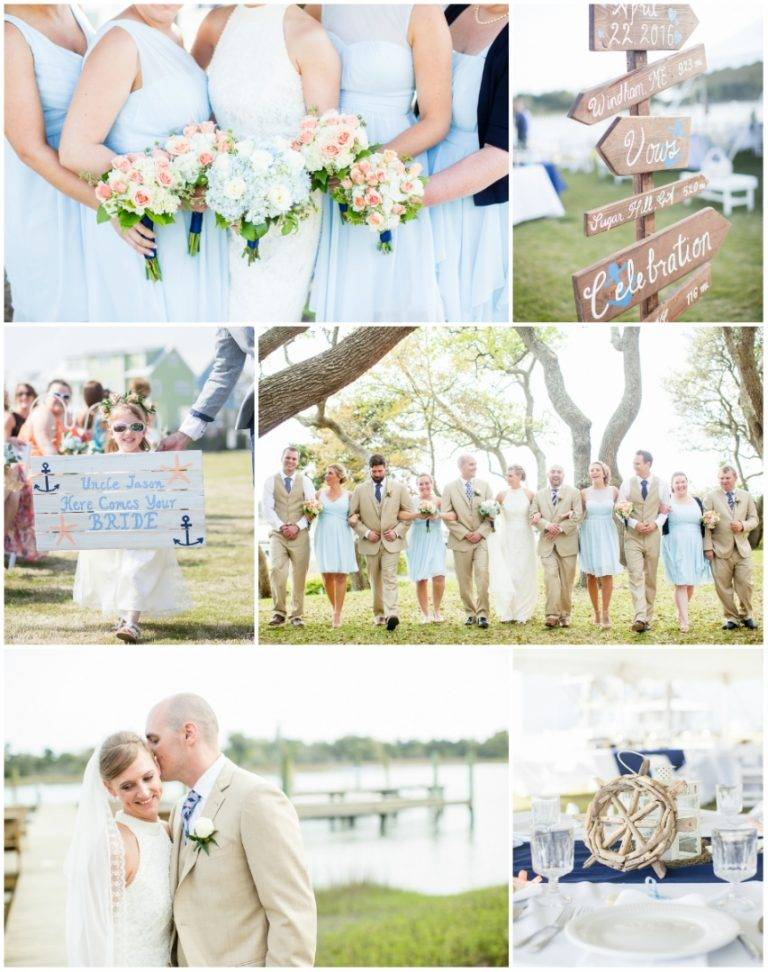 A Dainty and Nautical Wedding