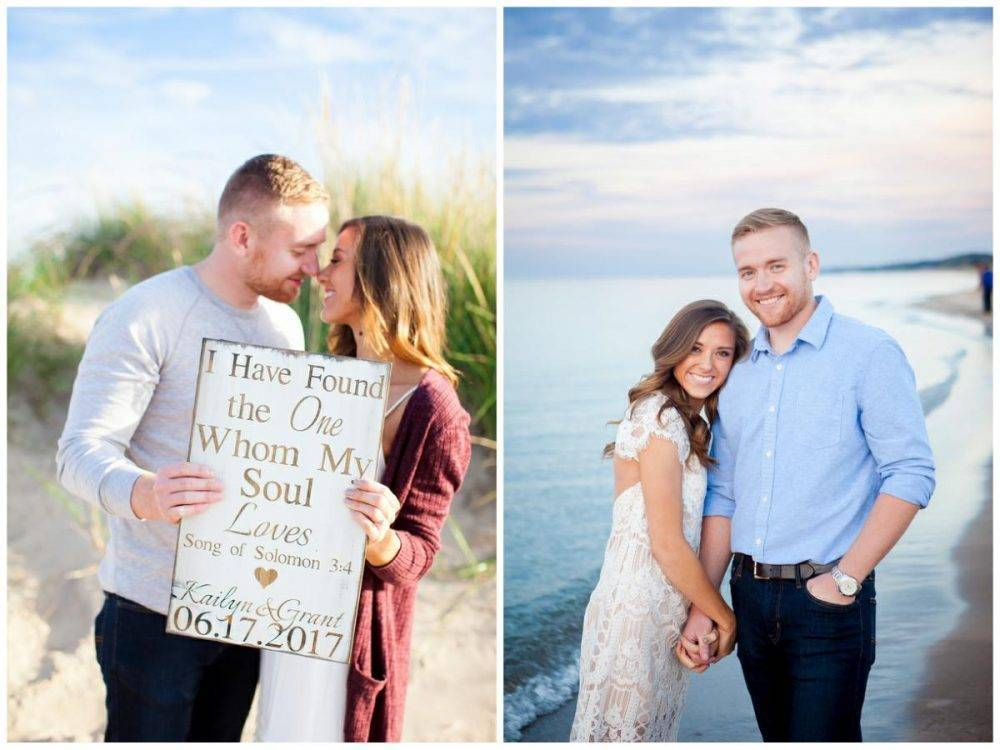 Beach Lighthouse Engagement Session