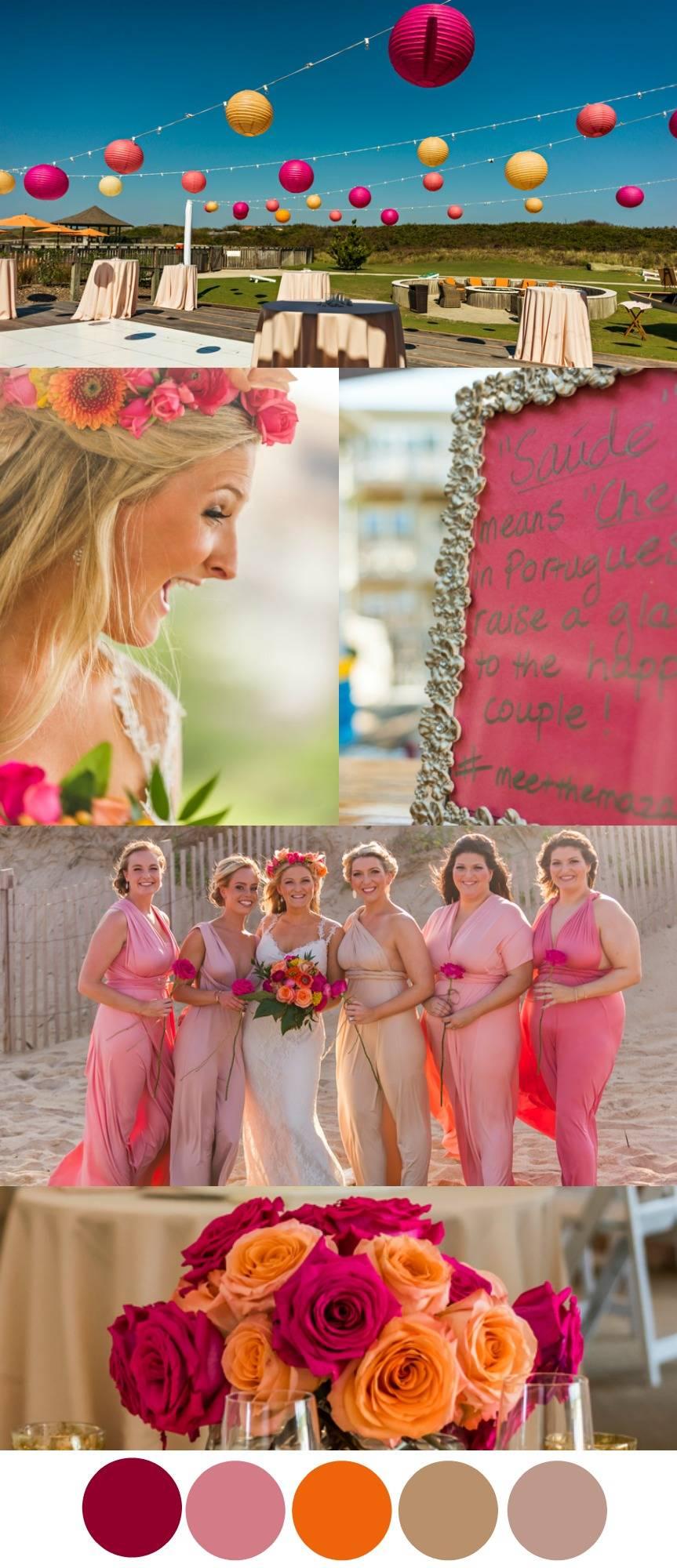 Most Beautiful Beach Wedding Color Schemes