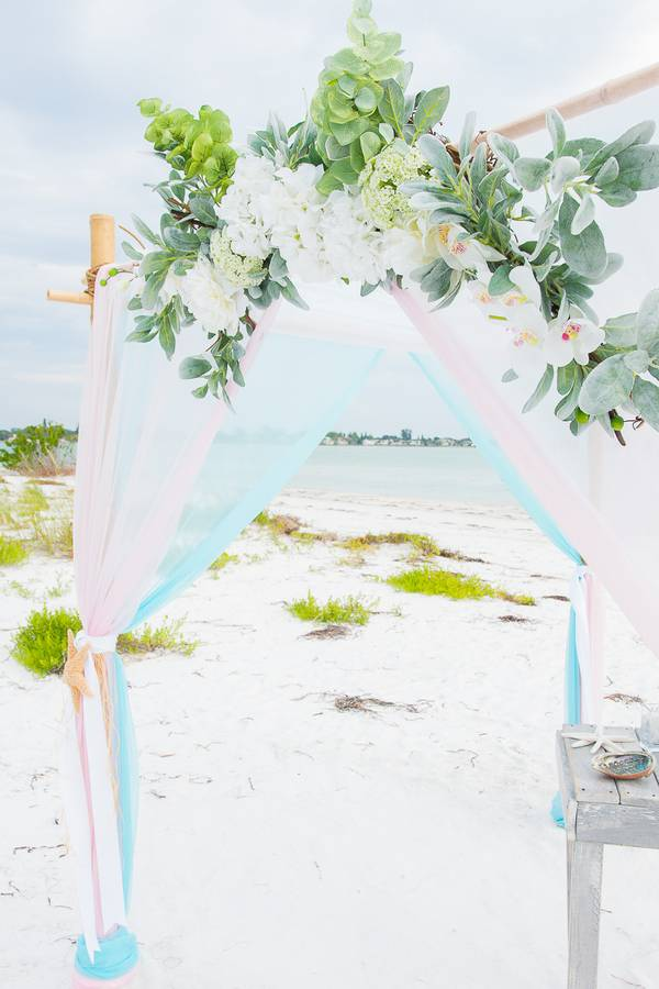 Pink and Sky Destination Wedding