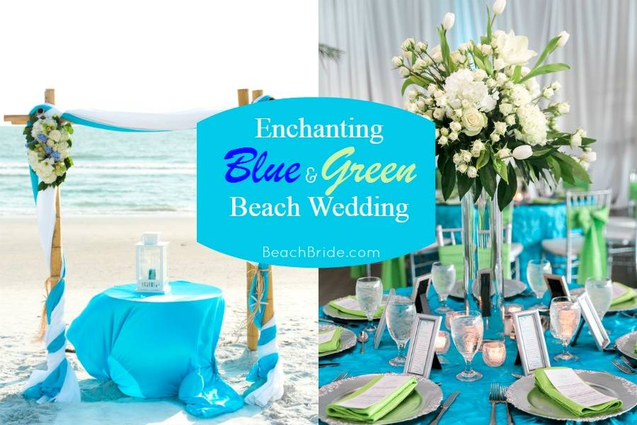 Enchanting Blue and Green Beach Wedding