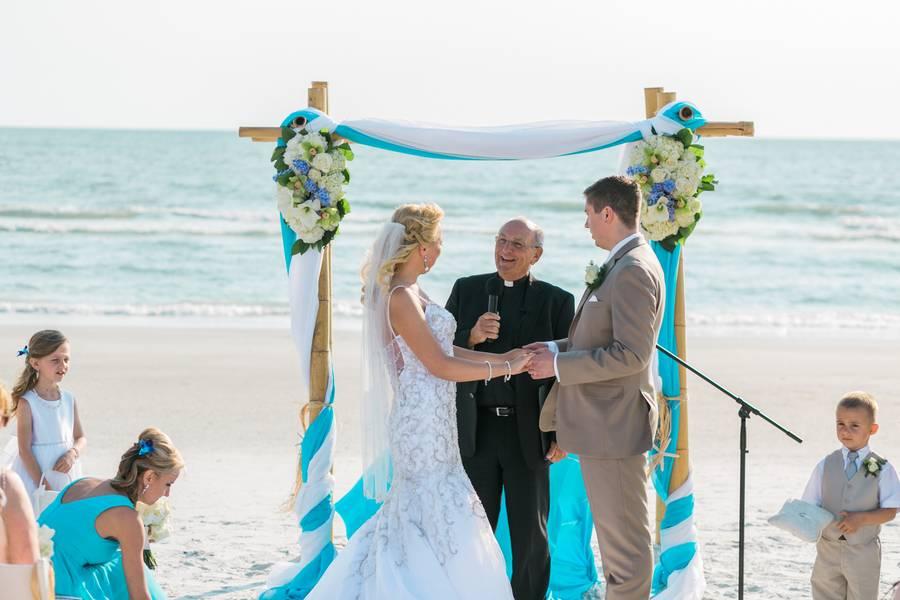 Enchanting Blue and Green Beach Wedding