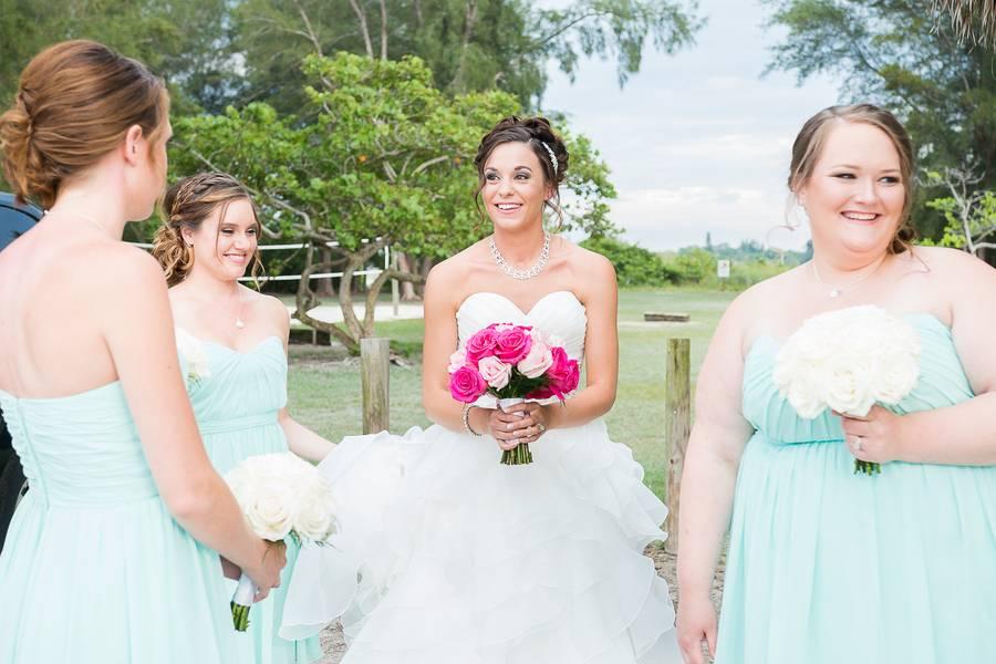 Pink and Sky Destination Wedding
