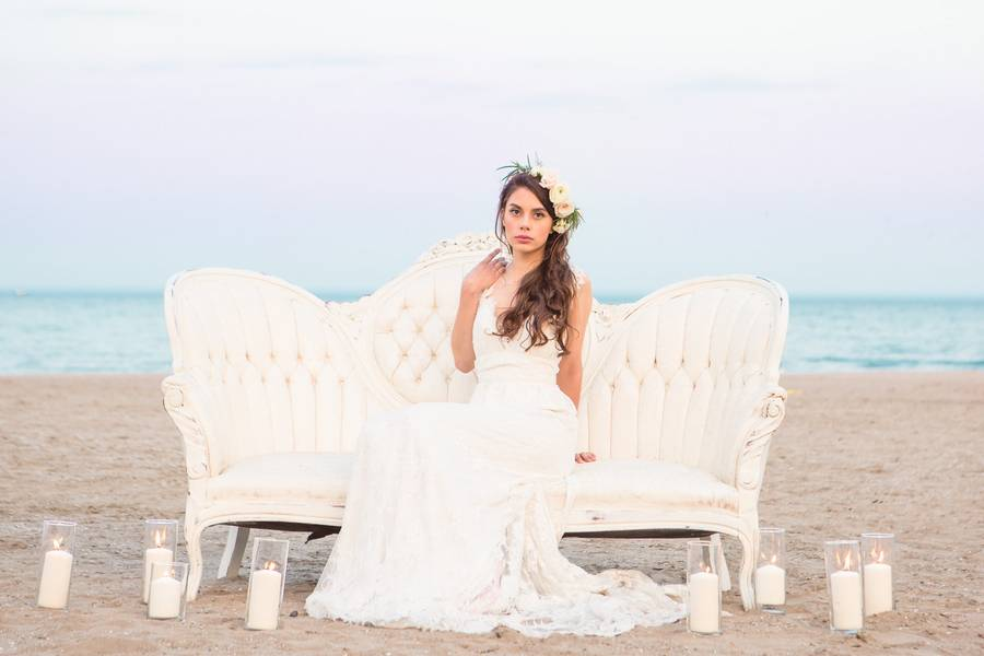 Romantic Beach Styled Shoot   The Scarborough Bluffs
