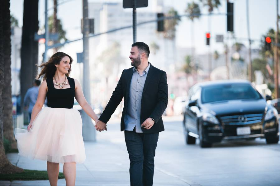 Downtown Santa Monica Engagement