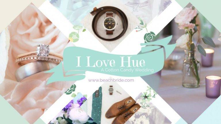 I Love Hue – A Cotton Candy Wedding