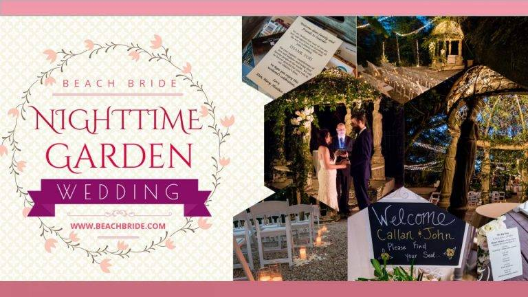 Nighttime Garden Wedding