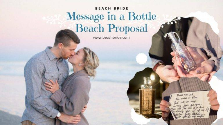 Message in a Bottle Beach Proposal
