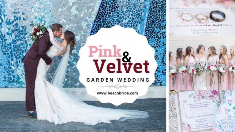 Pink And Velvet Garden Wedding