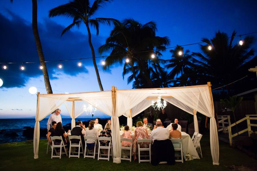 Beatiful White Orchid Beach House Wedding