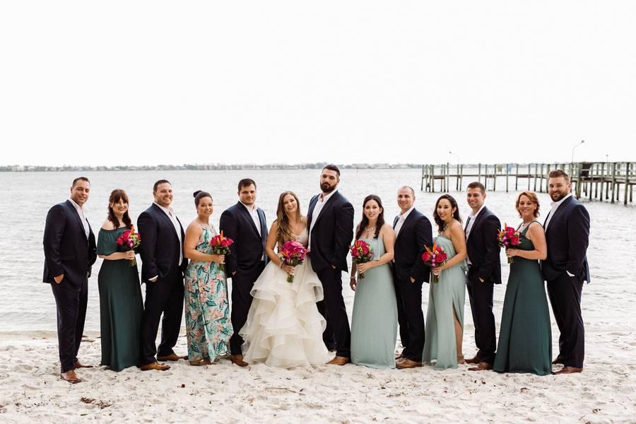 Tropical Beach Cottage Wedding