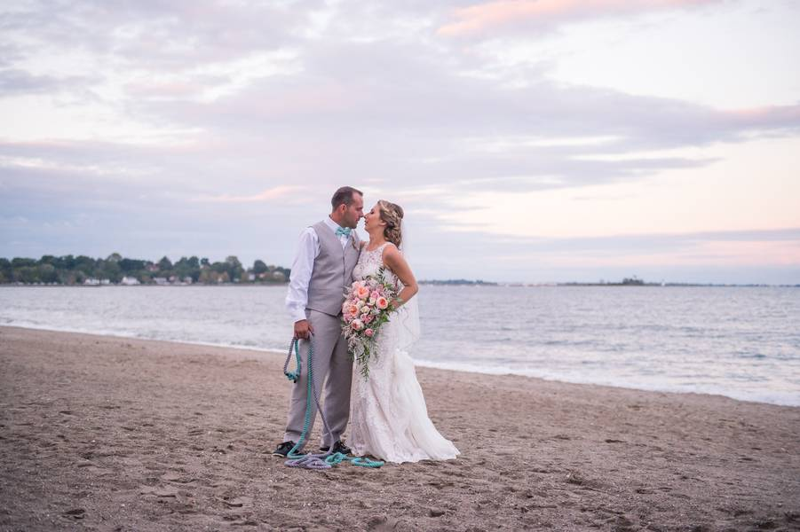 Colorful Connecticut Beach Wedding