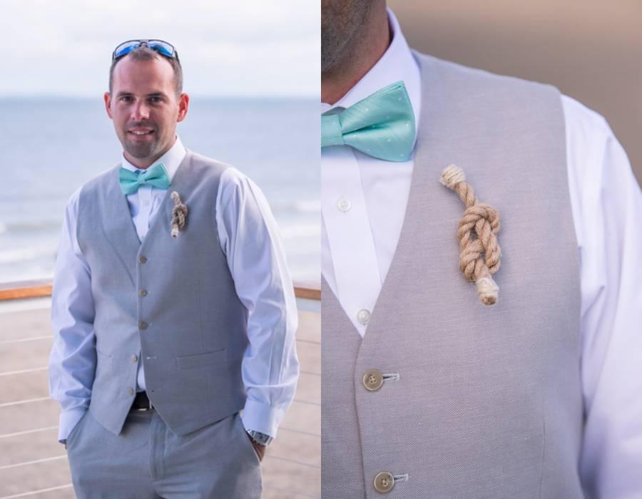 Colorful Connecticut Beach Wedding
