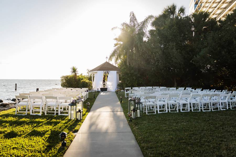 Sunset Over the Waters   Chic and Vintage Wedding