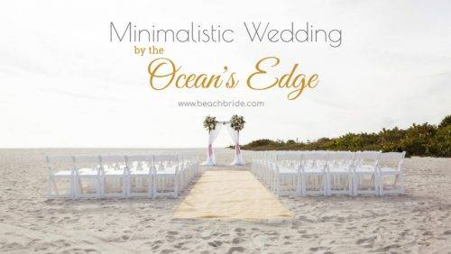 Minimalistic Wedding by the Ocean's Edge