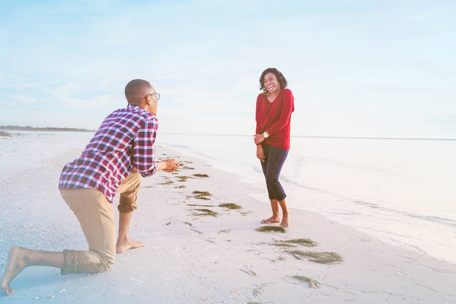 Surprise Private Island Engagement