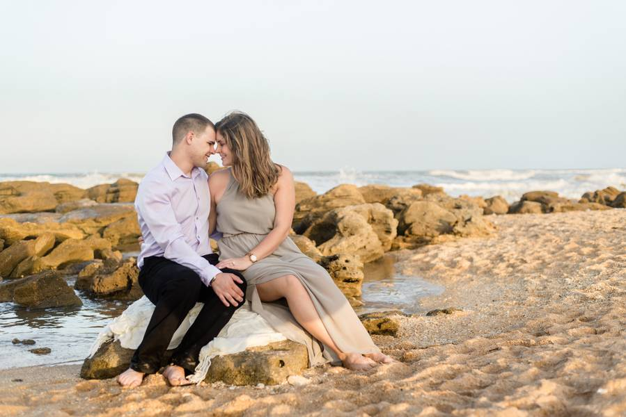 Palm Coast Garden Beach Engagement Session