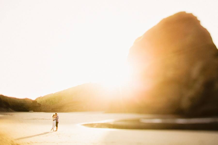 Beach Golden Hour Engagement Styled Shoot