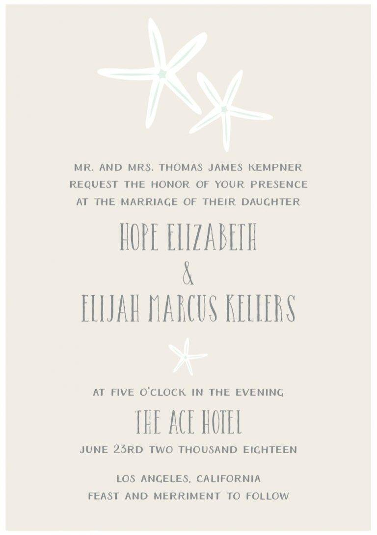 Create the Perfect Wedding Invitation Using  Starfish Themes & More