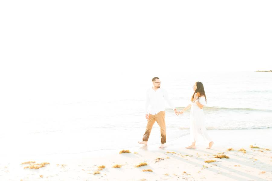 Romantic Oceanside Engagement Session