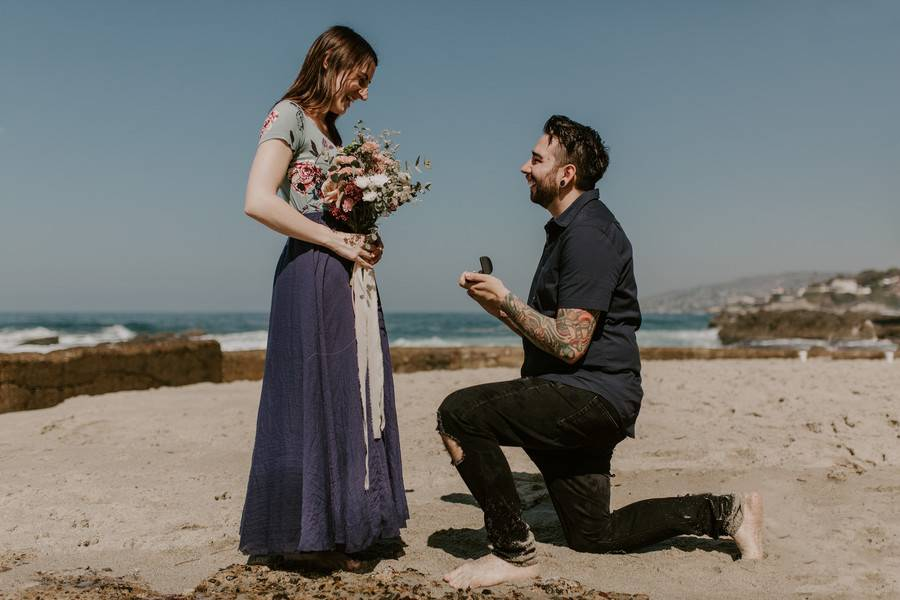 Epic Surprise Daytime Beach Proposal