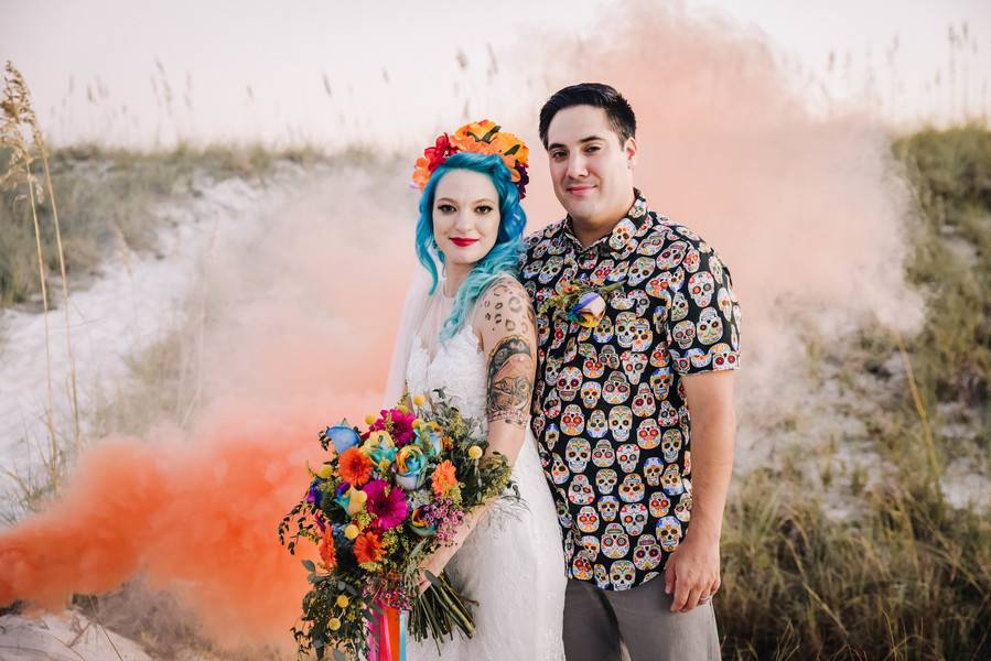Unique Day of the Dead Wedding