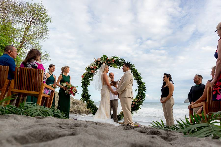 Beach Party Destination Wedding