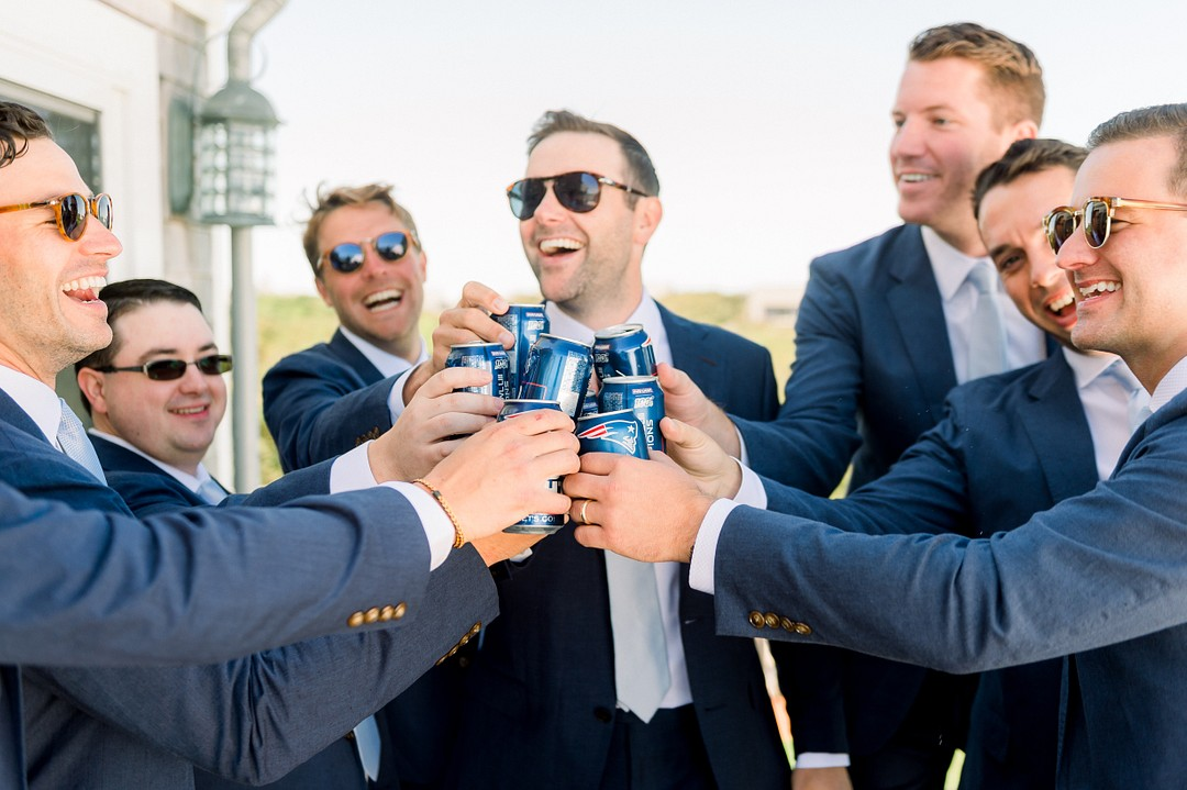 White and Blue Themed Wedding in Nantucket