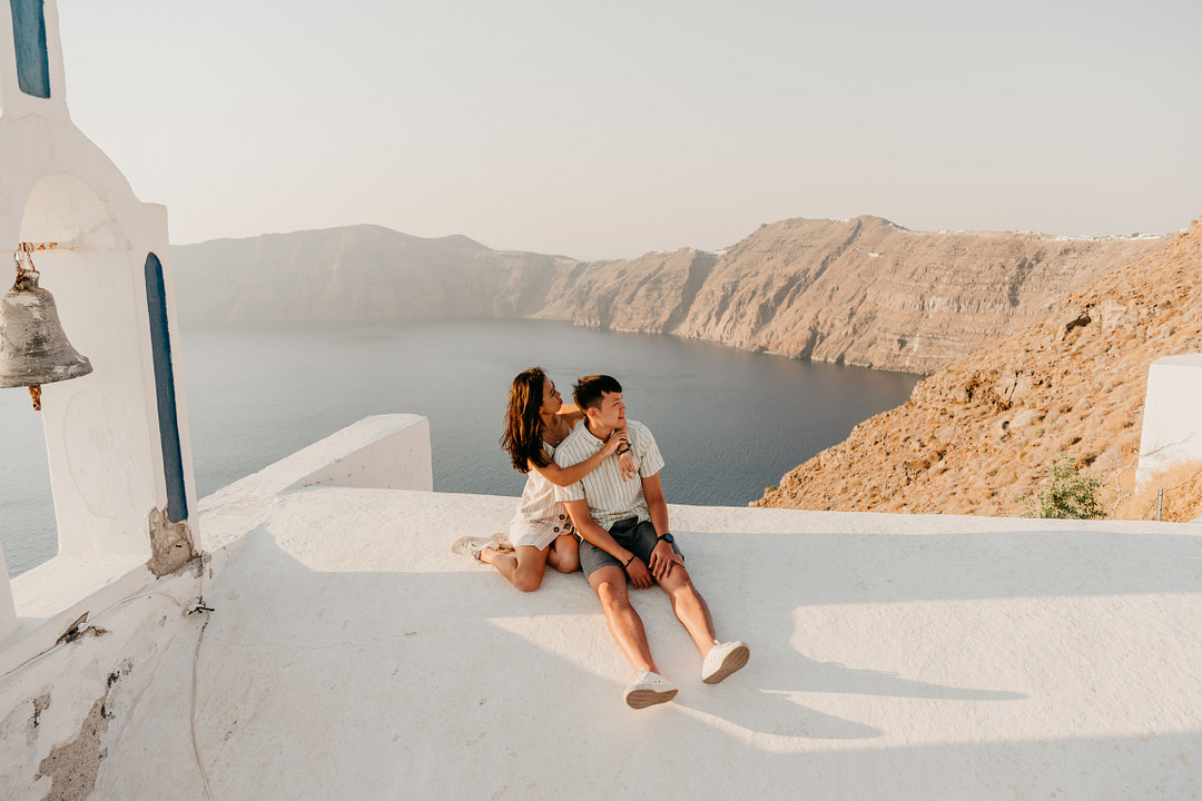 Surprise Proposal in Santorini, Greece